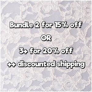 Bundle & Save! 🛍